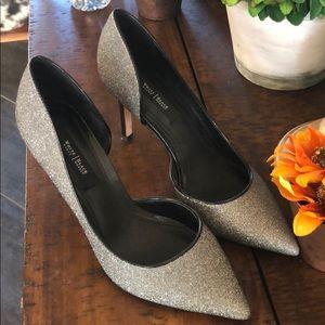 White House Black Market NYE Sparkle Heels